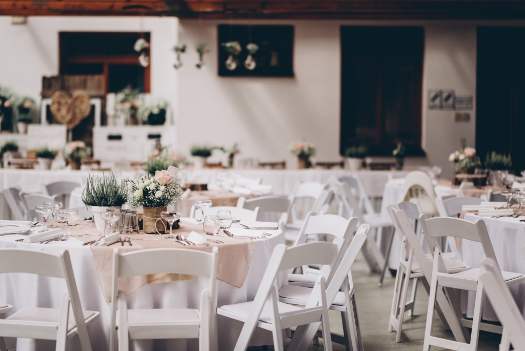 Request Quote Garden Chairs and Round Tables Linens